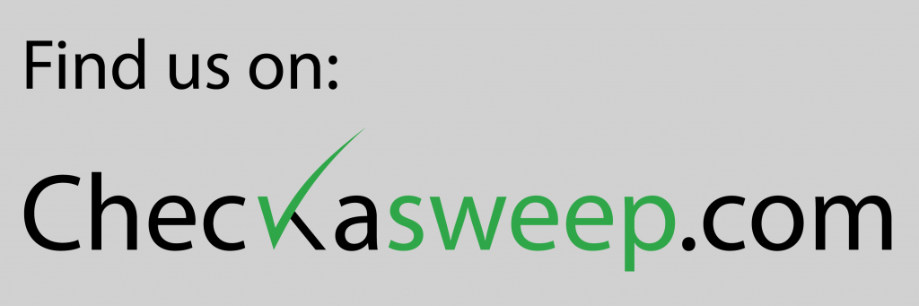 FInd us on Checkasweep.com - Black Text with Transparent Background